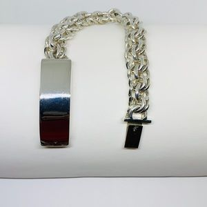 Other - Sterling Silver 925 stamped Mens Chino ID Bracelet